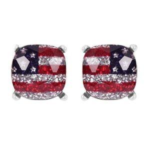 🔴 Last 1❗️5🌟 FLAG Glass Earring